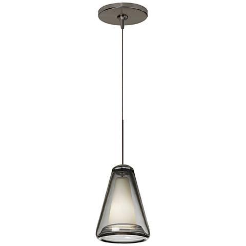 "Tech Lighting Billow 5"" Wide Smoke Glass Bronze Mini Pendant"