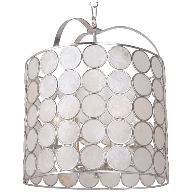 "Crystorama Coco 18""W Antique Silver 6-Light Pendant Light"