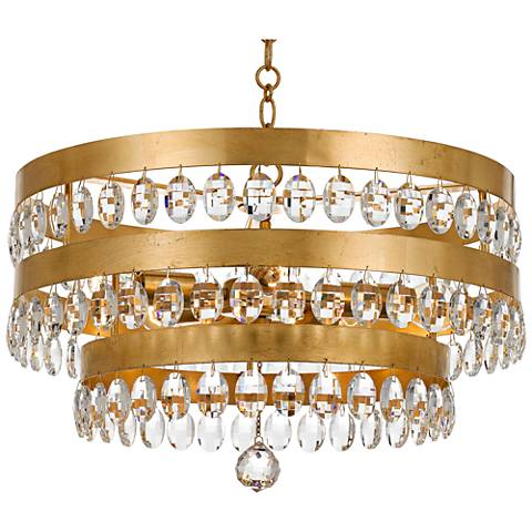 Crystorama perla 21 34w antique gold crystal chandelier 20a39 crystorama perla 21 34w antique gold crystal chandelier aloadofball Images