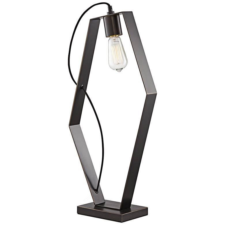 Hexamination Dark Bronze Modern Polygon Table Lamp