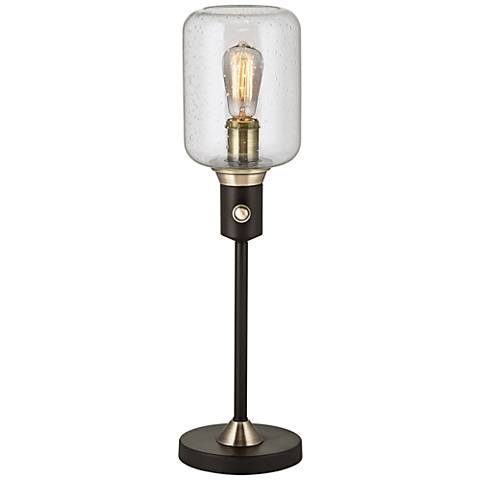Menlo Lane Black Industrial Jar Console Table Lamp