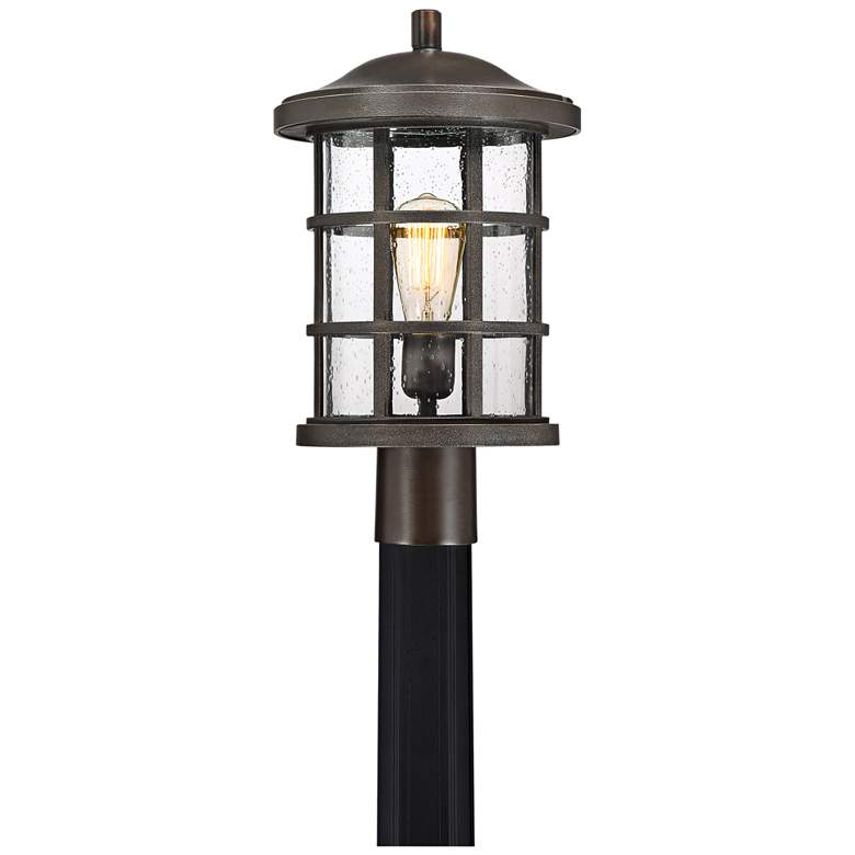 "Quoizel Crusade 17 1/4""W Palladian Bronze Outdoor Post Light"