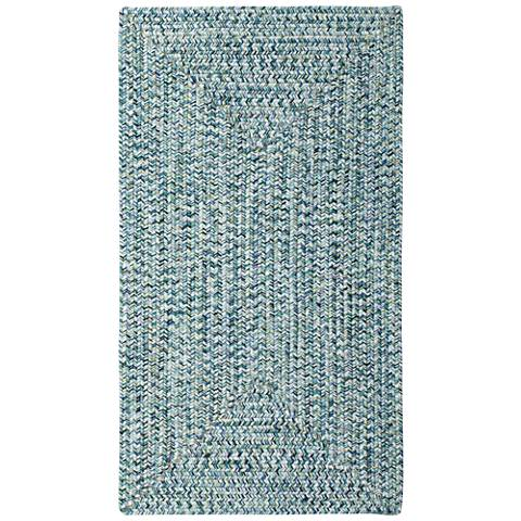 Sea Pottery 0110QS400 Blue Braided Outdoor Area Rug
