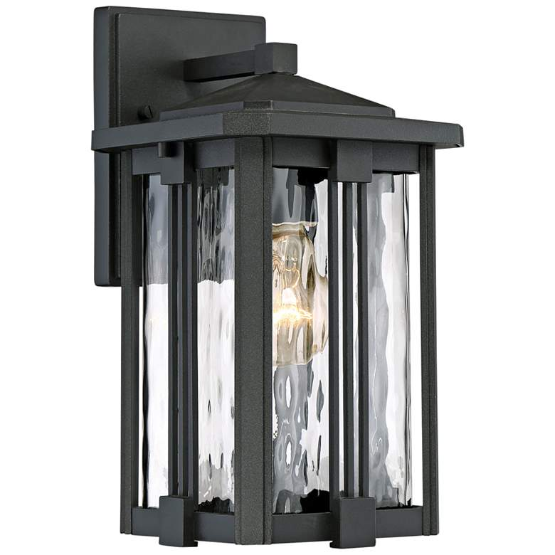 """Quoizel Everglade 12 1/4""""H Earth Black Outdoor Wall Light"""