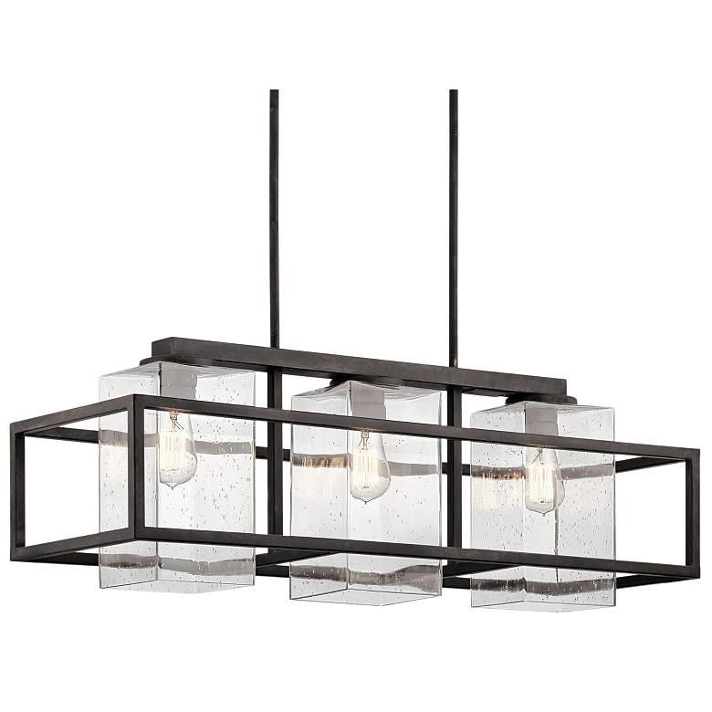 "Wright 36"" Wide Zinc Outdoor Kitchen Island Light Chandelier"