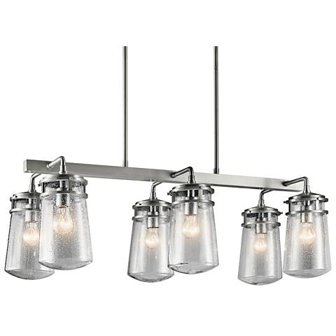 "Lyndon 36 3/4""W Brushed Aluminum Outdoor Island Chandelier"