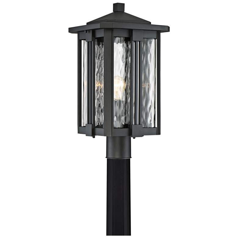 """Quoizel Everglade 20 1/4""""W Earth Black Outdoor Post"""