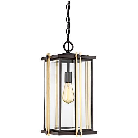 "Quoizel Goldenrod 20""H Western Bronze Outdoor Hanging Light"
