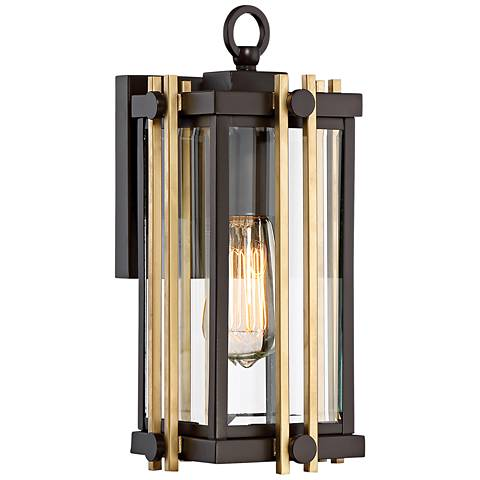 "Quoizel Goldenrod 12 3/4""H Western Bronze Outdoor Wall Light"