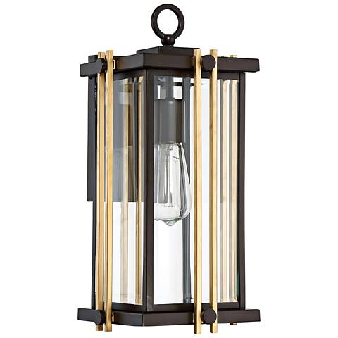 "Quoizel Goldenrod 16 1/4""H Western Bronze Outdoor Wall Light"
