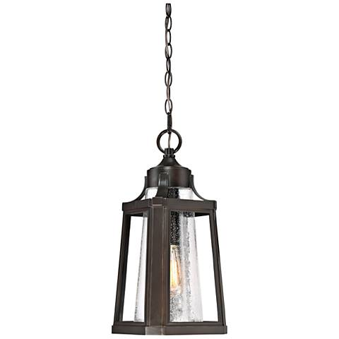 "Quoizel Lighthouse 18 3/4"" High Bronze Outdoor Hanging Light"