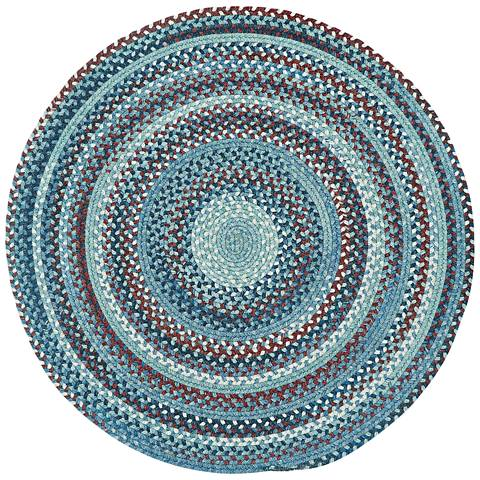 Capel Kill Devil Hill 0210CS425 Round Blue Area Rug