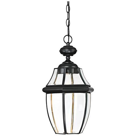 "Quoizel Newbury 19"" High Black LED Outdoor Hanging Light"