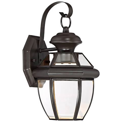 "Quoizel Newbury 12 1/2"" High Bronze LED Outdoor Wall Light"