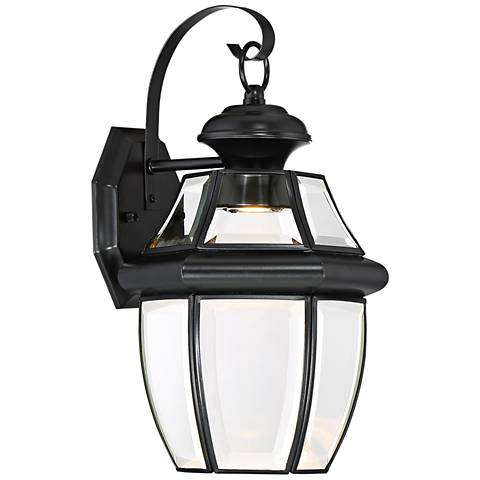 "Quoizel Newberry LED 14"" High Black Outdoor Wall Light"