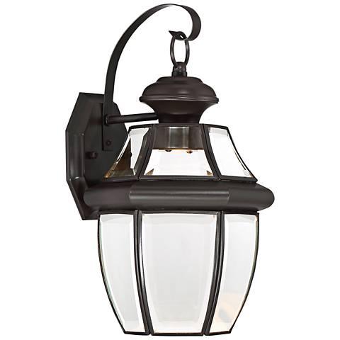 """Quoizel Newberry LED 14"""" High Bronze Outdoor Wall Light"""