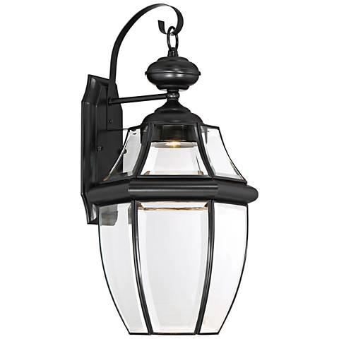 """Quoizel Newberry LED 20"""" High Black Outdoor Wall Light"""