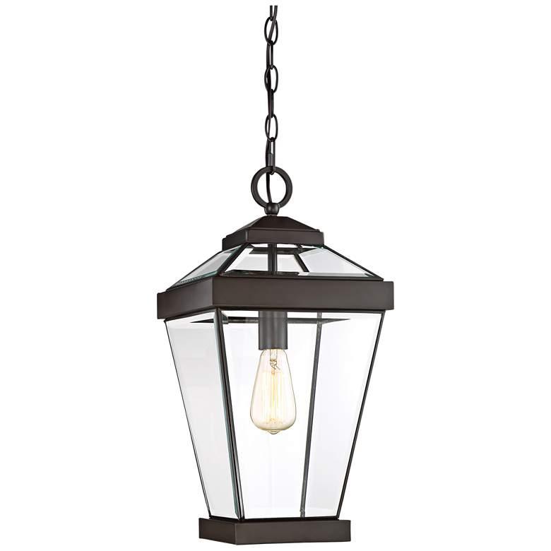 "Quoizel Ravine 20""W Western Bronze Outdoor Hanging Light"