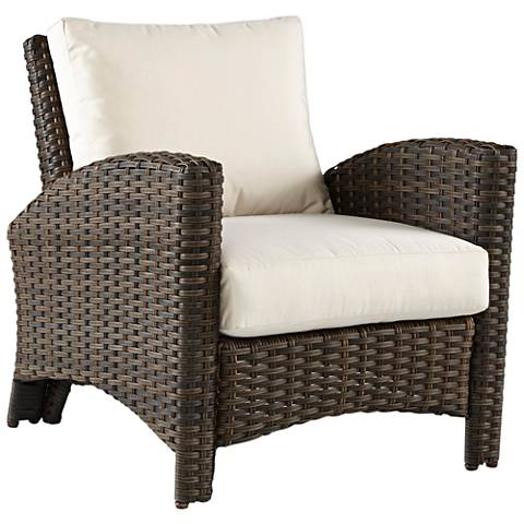 Giulia Charcoal Brown Wicker Outdoor Armchair