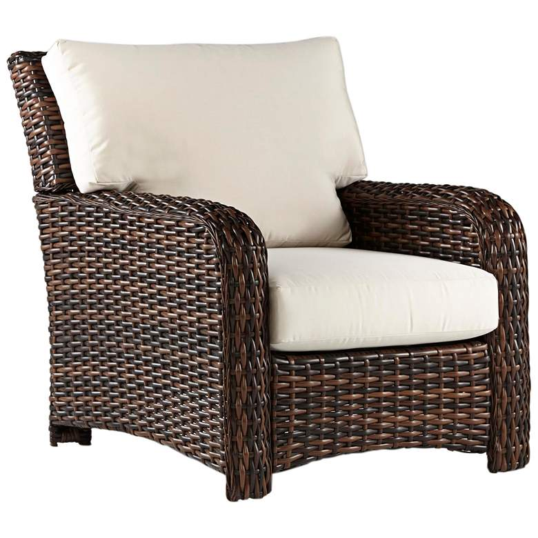 Isla Verde Espresso Wicker Outdoor Armchair