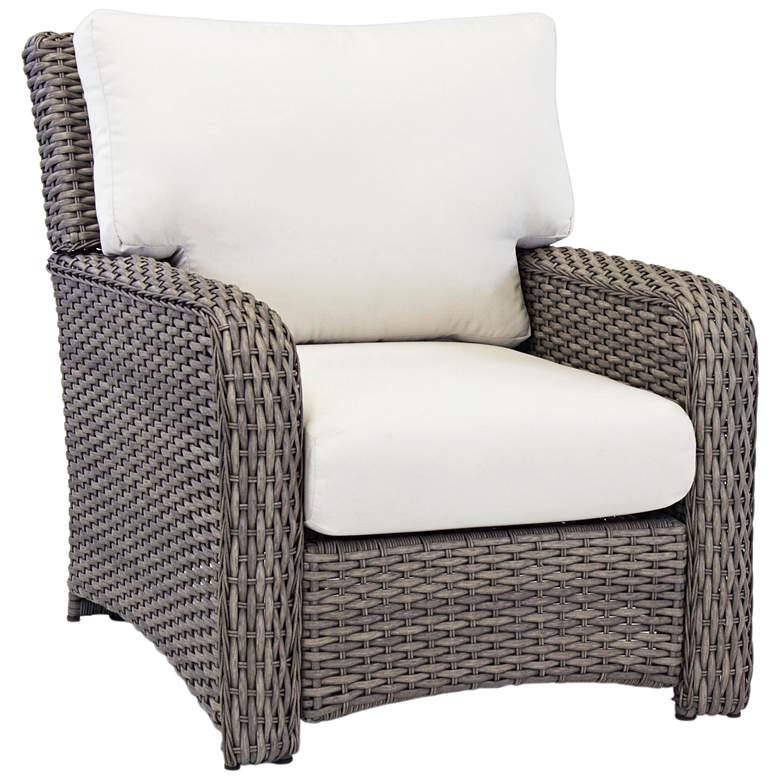 Isla Verde Stone Wicker Outdoor Armchair