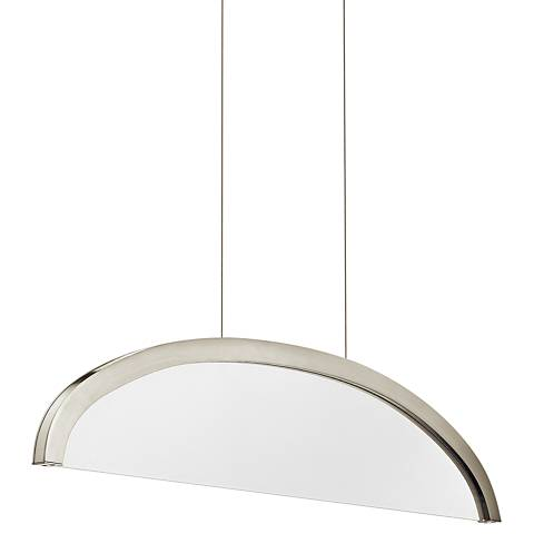 "Elan Slice 36"" Wide Brushed Nickel LED Pendant Light"