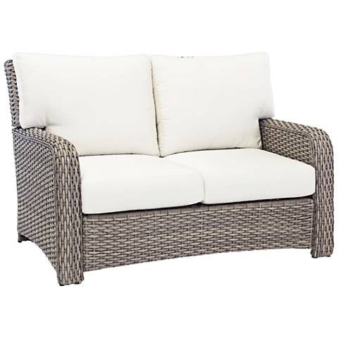 Isla Verde Stone Wicker Outdoor Loveseat