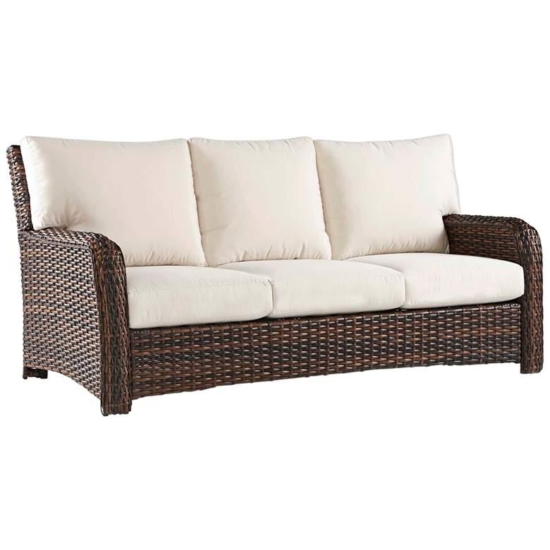 Isla Verde Espresso Wicker 3-Seat Outdoor Sofa