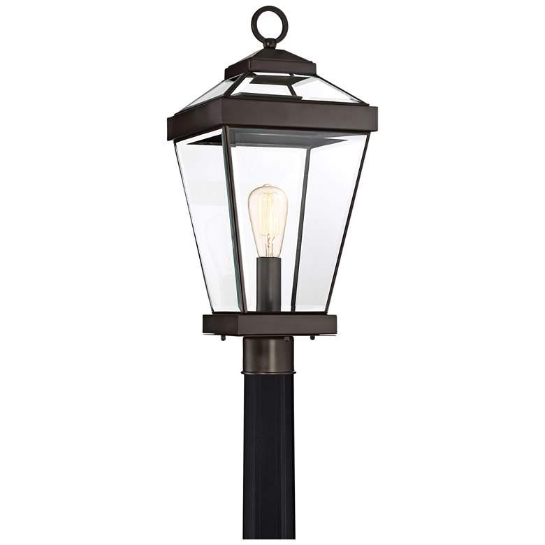 """Quoizel Ravine 22 1/2""""W Western Bronze Outdoor Post Light"""