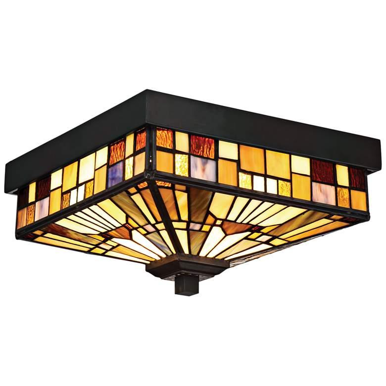 """Quoizel Inglenook 6"""" High Valiant Bronze Outdoor Ceiling Light"""