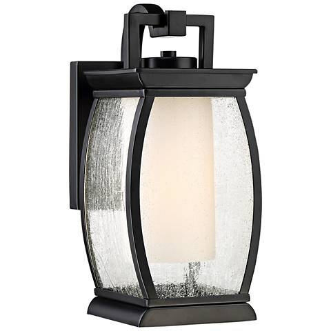 "Quoizel Terrace 12"" High Mystic Black Outdoor Wall Light"