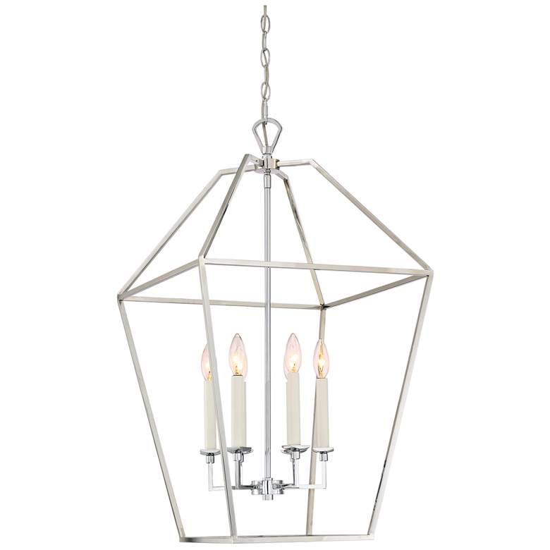 """Quoizel Aviary 20 1/4"""" Wide Nickel 6-Light Cage"""
