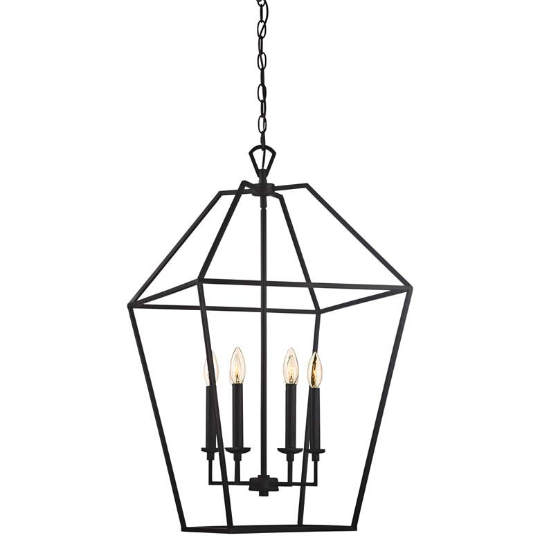 """Quoizel Aviary 20 1/4"""" Wide Bronze 6-Light Cage Chandelier"""