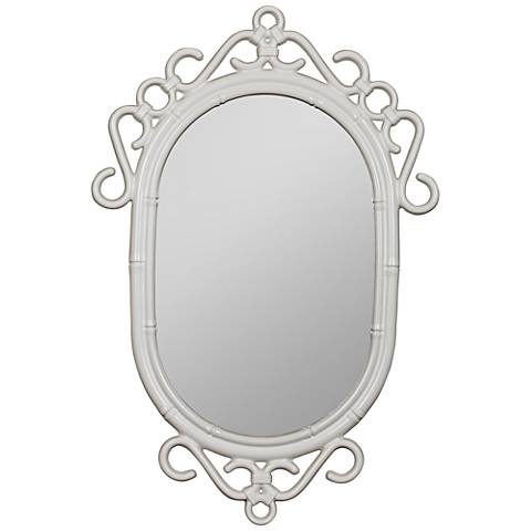 "Jackie Glossy White 24"" x 36"" Wall Mirror"