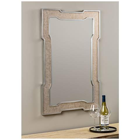 "Cooper Classics Hermione Champagne 24"" x 36"" Wall Mirror"