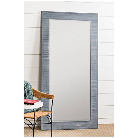"Cooper Classics Gaines Blue Wash 36"" x 72"" Floor Mirror"