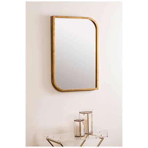 "Aerin Gold 24"" x 34"" Rectangular Wall Mirror"