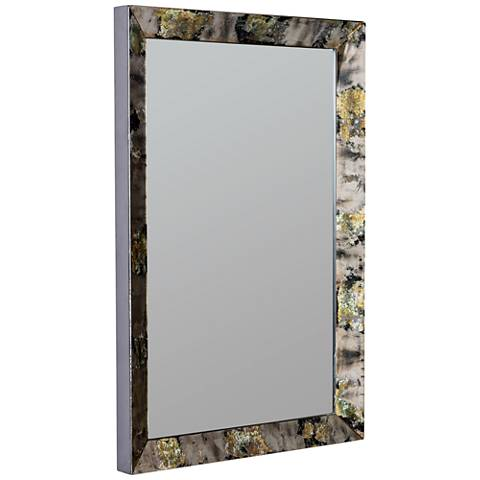 "Finlay Antiqued 27 1/2"" x 37 1/2"" Wall Mirror"
