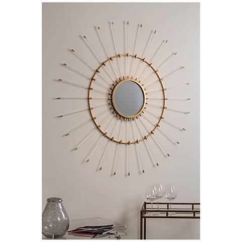 "Cooper Classics Helios Acrylic 51 1/4"" Round Wall Mirror"
