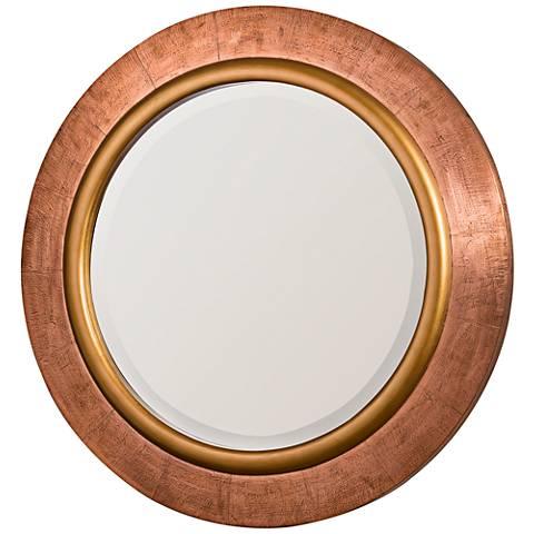 "Cooper Classics Regency Copper 30 3/4"" Round Wall Mirror"