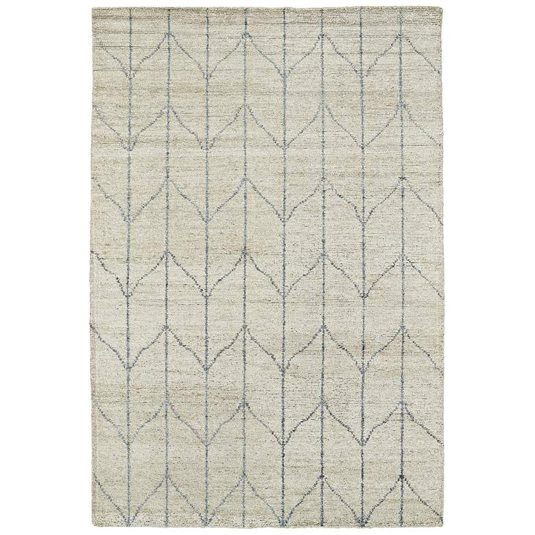 Kaleen Solitaire SOL05-29 5' x 8' Sand Bamboo Silk Area Rug