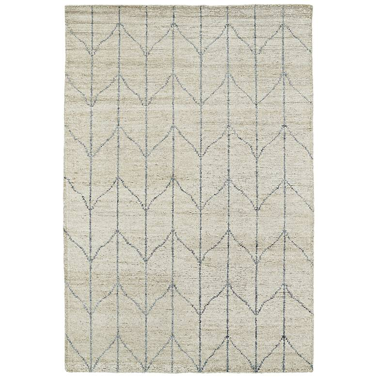 Kaleen Solitaire SOL05-29 Sand and Gray Bamboo Silk Area Rug
