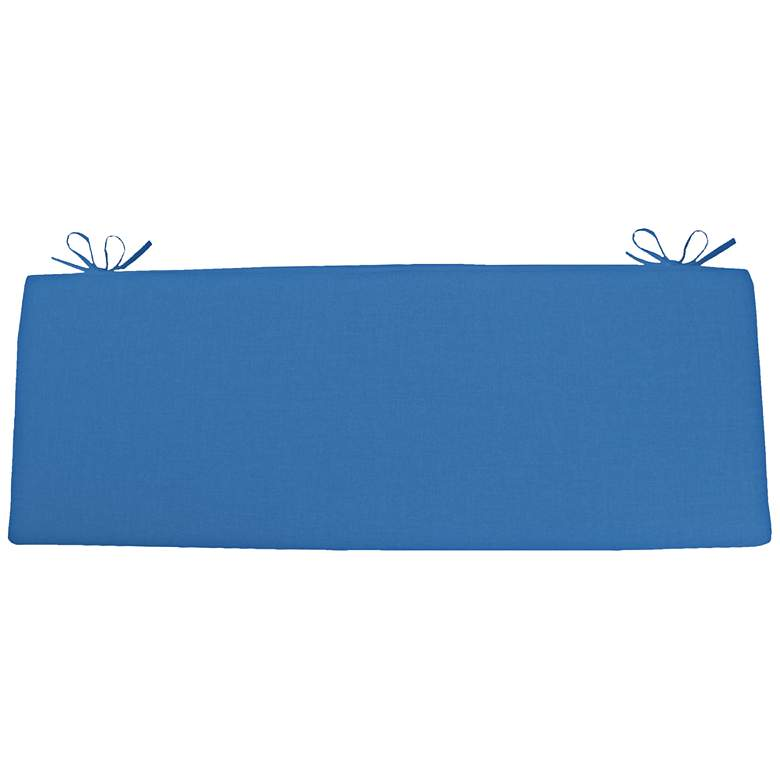 """Sunbrella Kali Canvas Capri 45"""" Wide Bench Cushion"""