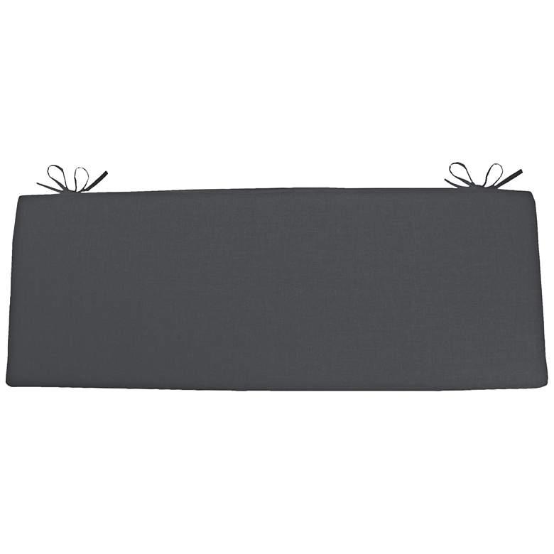 """Sunbrella Kali Cast Slate 45"""" Wide Bench Cushion"""