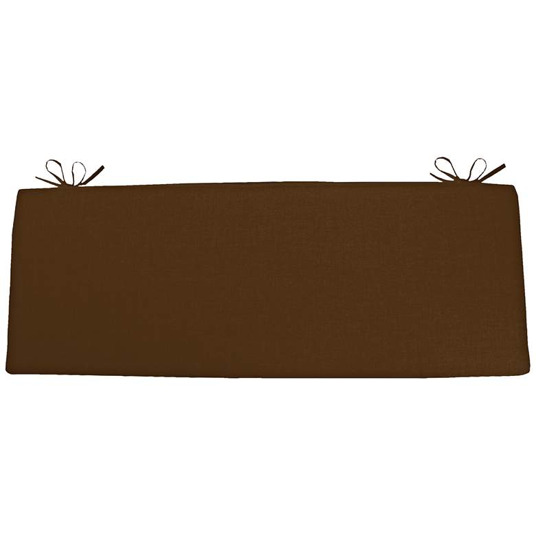 """Sunbrella Kali Canvas Teak 45"""" Wide Bench Cushion"""