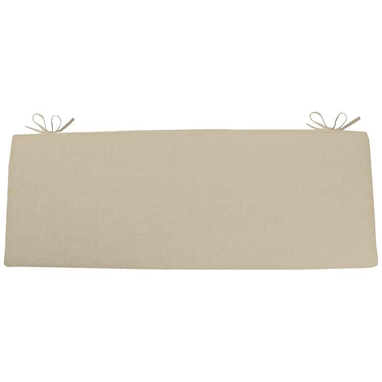 """Sunbrella Kali Canvas Antique Beige 45"""" Wide Bench Cushion"""