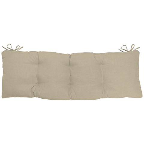 Sunbrella Antique Beige 45 Quot Wide Tufted Bench Cushion