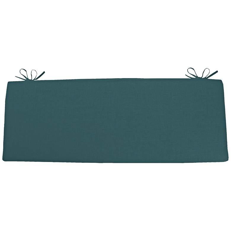 """Sunbrella Kali Cast Lagoon 45"""" Wide Bench Cushion"""