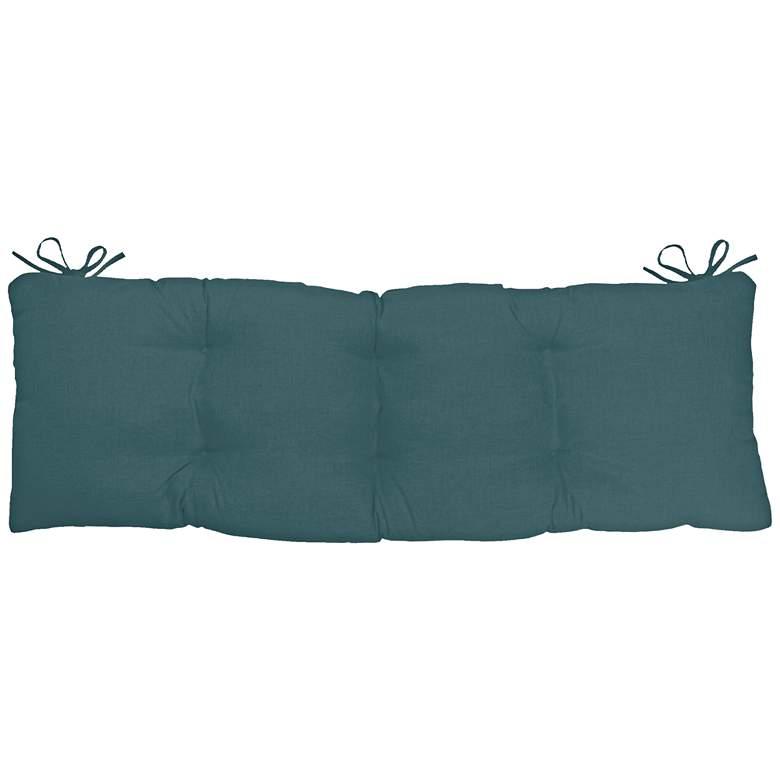 "Sunbrella Kali Cast Lagoon 45"" Wide Tufted Bench Cushion"