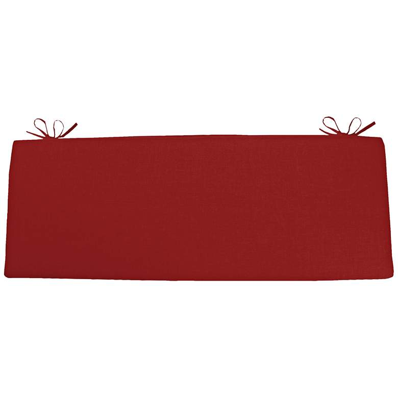 """Sunbrella Kali Canvas Jockey Red 45"""" Wide Bench Cushion"""